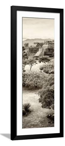 ¡Viva Mexico! Panoramic Collection - Pyramid of Monte Alban VI-Philippe Hugonnard-Framed Art Print