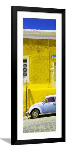 ¡Viva Mexico! Panoramic Collection - VW Beetle Car and Yellow Wall-Philippe Hugonnard-Framed Art Print