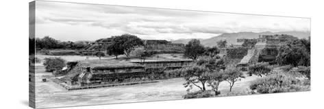 ¡Viva Mexico! Panoramic Collection - Pyramid of Monte Alban IV-Philippe Hugonnard-Stretched Canvas Print