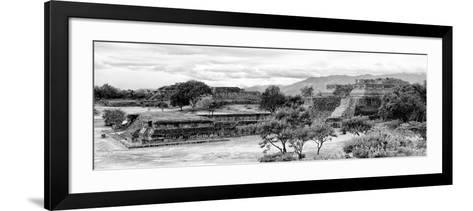 ¡Viva Mexico! Panoramic Collection - Pyramid of Monte Alban IV-Philippe Hugonnard-Framed Art Print