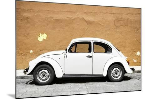 ¡Viva Mexico! Collection - White VW Beetle Car and Caramel Street Wall-Philippe Hugonnard-Mounted Photographic Print