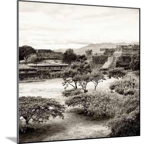 ¡Viva Mexico! Square Collection - Pyramid Maya of Monte Alban II-Philippe Hugonnard-Mounted Photographic Print