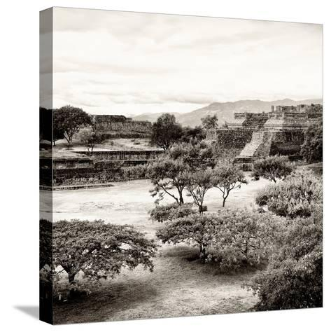 ¡Viva Mexico! Square Collection - Pyramid Maya of Monte Alban II-Philippe Hugonnard-Stretched Canvas Print