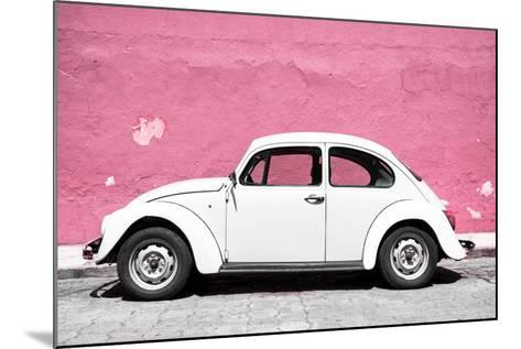 ?Viva Mexico! Collection - White VW Beetle Car and Light Pink Street Wall-Philippe Hugonnard-Mounted Photographic Print