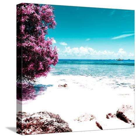 ¡Viva Mexico! Square Collection - Coastline Paradise in Isla Mujeres I-Philippe Hugonnard-Stretched Canvas Print