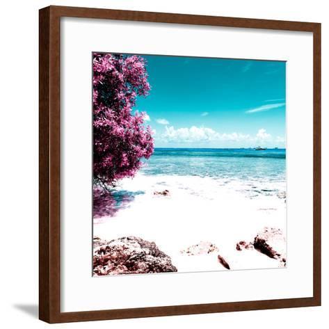 ¡Viva Mexico! Square Collection - Coastline Paradise in Isla Mujeres I-Philippe Hugonnard-Framed Art Print