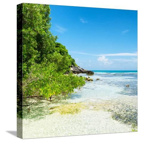 ¡Viva Mexico! Square Collection - Coastline Paradise in Isla Mujeres VI-Philippe Hugonnard-Stretched Canvas Print