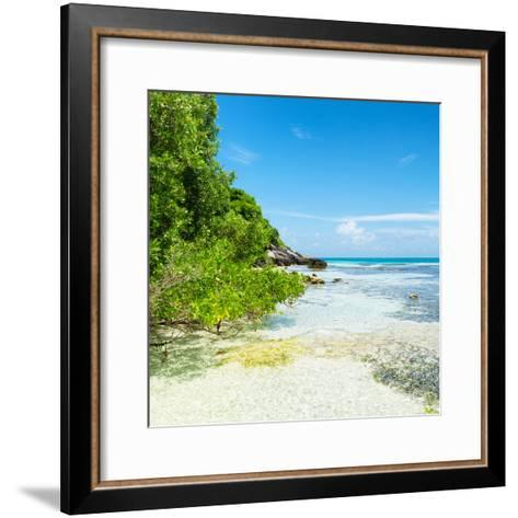 ¡Viva Mexico! Square Collection - Coastline Paradise in Isla Mujeres VI-Philippe Hugonnard-Framed Art Print