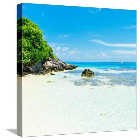 ¡Viva Mexico! Square Collection - Coastline Paradise in Isla Mujeres IV-Philippe Hugonnard-Stretched Canvas Print