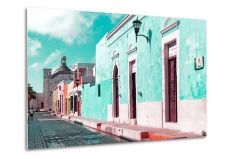 ¡Viva Mexico! Collection - Green Campeche-Philippe Hugonnard-Metal Print