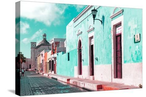 ¡Viva Mexico! Collection - Green Campeche-Philippe Hugonnard-Stretched Canvas Print