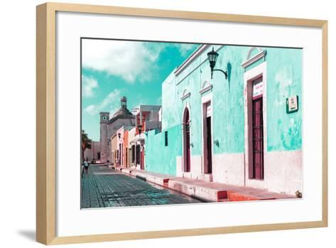 ¡Viva Mexico! Collection - Green Campeche-Philippe Hugonnard-Framed Art Print