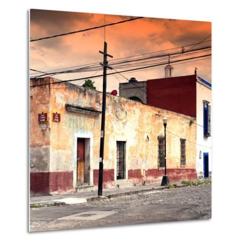 ¡Viva Mexico! Square Collection - Mexican Street at Sunset-Philippe Hugonnard-Metal Print