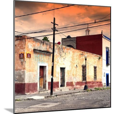 ¡Viva Mexico! Square Collection - Mexican Street at Sunset-Philippe Hugonnard-Mounted Photographic Print