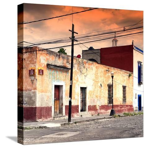 ¡Viva Mexico! Square Collection - Mexican Street at Sunset-Philippe Hugonnard-Stretched Canvas Print