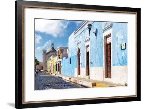 ?Viva Mexico! Collection - Blue Campeche-Philippe Hugonnard-Framed Art Print
