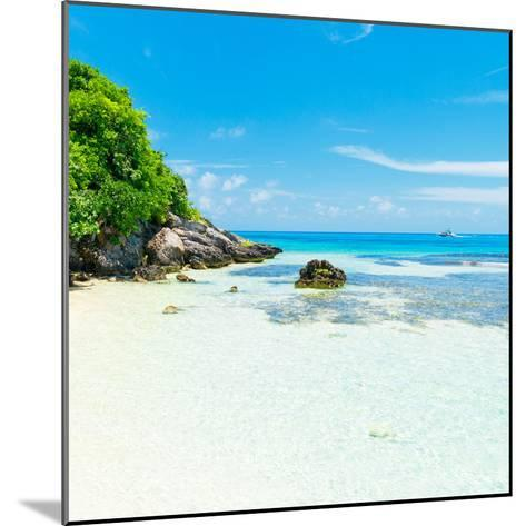 ¡Viva Mexico! Square Collection - Coastline Paradise in Isla Mujeres IV-Philippe Hugonnard-Mounted Photographic Print