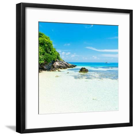 ¡Viva Mexico! Square Collection - Coastline Paradise in Isla Mujeres IV-Philippe Hugonnard-Framed Art Print