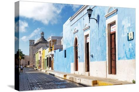 ?Viva Mexico! Collection - Blue Campeche-Philippe Hugonnard-Stretched Canvas Print
