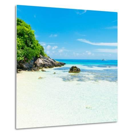 ¡Viva Mexico! Square Collection - Coastline Paradise in Isla Mujeres IV-Philippe Hugonnard-Metal Print