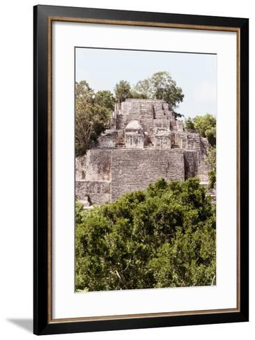 ?Viva Mexico! Collection - Ancient Maya City within the jungle of Calakmul IV-Philippe Hugonnard-Framed Art Print