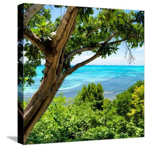 ¡Viva Mexico! Square Collection - Isla Mujeres View II-Philippe Hugonnard-Stretched Canvas Print