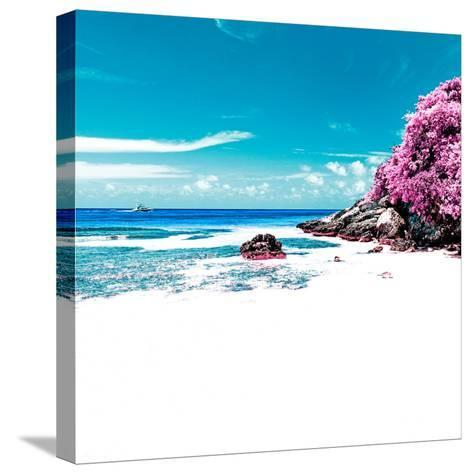 ¡Viva Mexico! Square Collection - Coastline Paradise in Isla Mujeres V-Philippe Hugonnard-Stretched Canvas Print