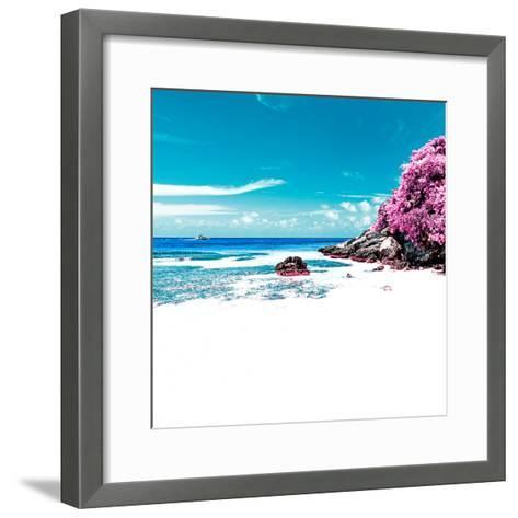¡Viva Mexico! Square Collection - Coastline Paradise in Isla Mujeres V-Philippe Hugonnard-Framed Art Print