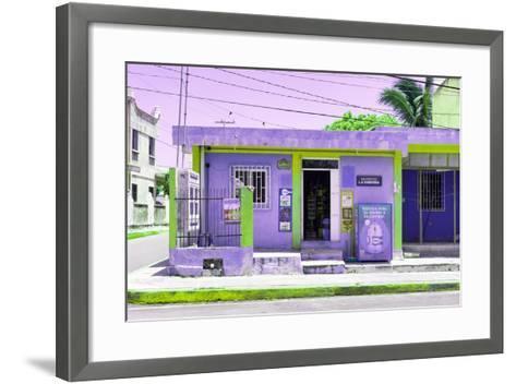 "¡Viva Mexico! Collection - ""La Esquina"" Purple Supermarket - Cancun-Philippe Hugonnard-Framed Art Print"