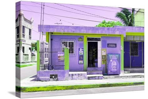 "¡Viva Mexico! Collection - ""La Esquina"" Purple Supermarket - Cancun-Philippe Hugonnard-Stretched Canvas Print"