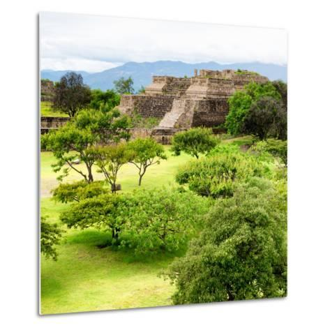 ¡Viva Mexico! Square Collection - Pyramid Maya of Monte Alban IV-Philippe Hugonnard-Metal Print