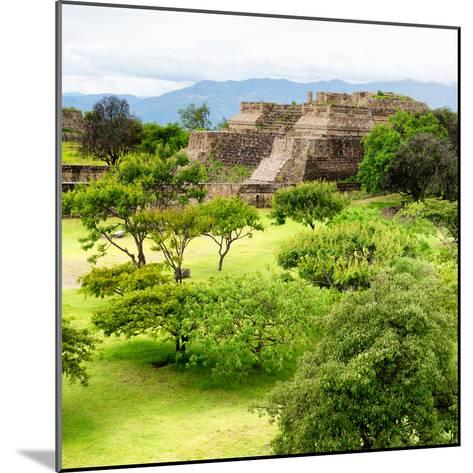 ¡Viva Mexico! Square Collection - Pyramid Maya of Monte Alban IV-Philippe Hugonnard-Mounted Photographic Print