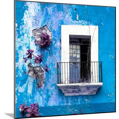 ¡Viva Mexico! Square Collection - Old Blue Facade-Philippe Hugonnard-Mounted Photographic Print