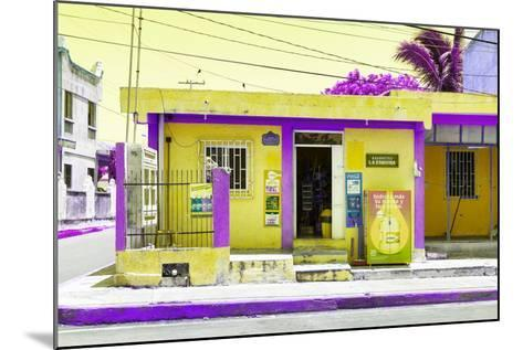 "¡Viva Mexico! Collection - ""La Esquina"" Yellow Supermarket - Cancun-Philippe Hugonnard-Mounted Photographic Print"