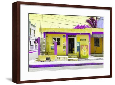 "¡Viva Mexico! Collection - ""La Esquina"" Yellow Supermarket - Cancun-Philippe Hugonnard-Framed Art Print"