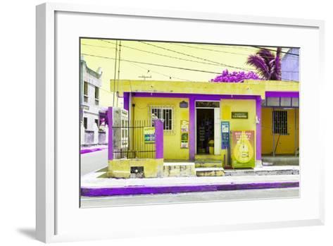 "?Viva Mexico! Collection - ""La Esquina"" Yellow Supermarket - Cancun-Philippe Hugonnard-Framed Art Print"