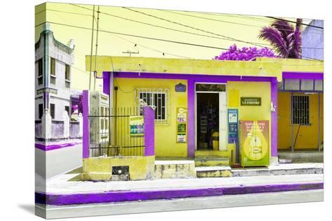 "¡Viva Mexico! Collection - ""La Esquina"" Yellow Supermarket - Cancun-Philippe Hugonnard-Stretched Canvas Print"