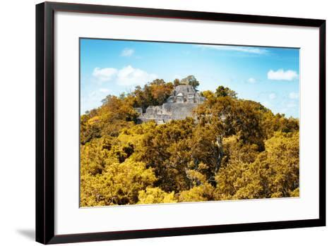 ?Viva Mexico! Collection - Ancient Maya City within the jungle in Autumn of Calakmul III-Philippe Hugonnard-Framed Art Print