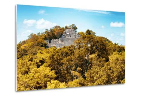 ?Viva Mexico! Collection - Ancient Maya City within the jungle in Autumn of Calakmul III-Philippe Hugonnard-Metal Print