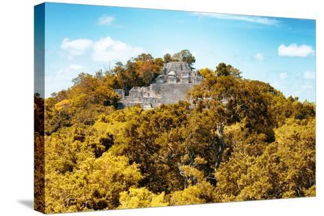 ?Viva Mexico! Collection - Ancient Maya City within the jungle in Autumn of Calakmul III-Philippe Hugonnard-Stretched Canvas Print