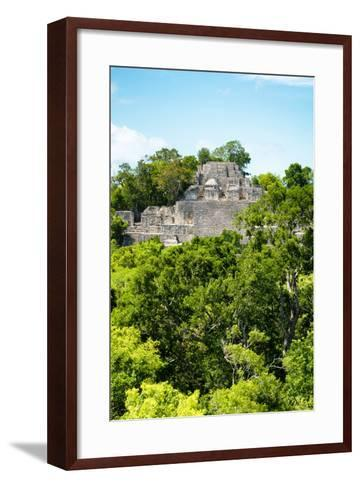 ?Viva Mexico! Collection - Ancient Maya City within the jungle of Calakmul VI-Philippe Hugonnard-Framed Art Print