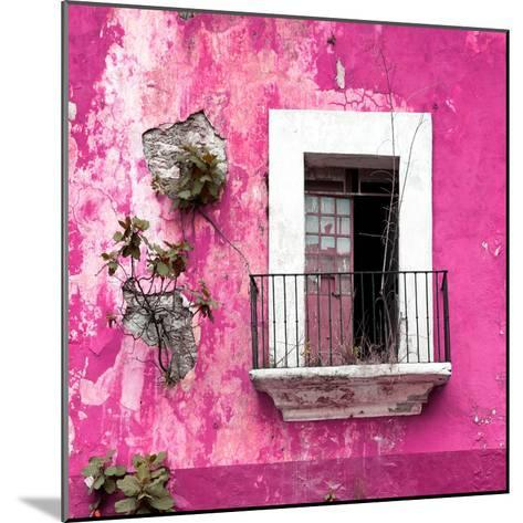 ¡Viva Mexico! Square Collection - Old Pink Facade-Philippe Hugonnard-Mounted Photographic Print