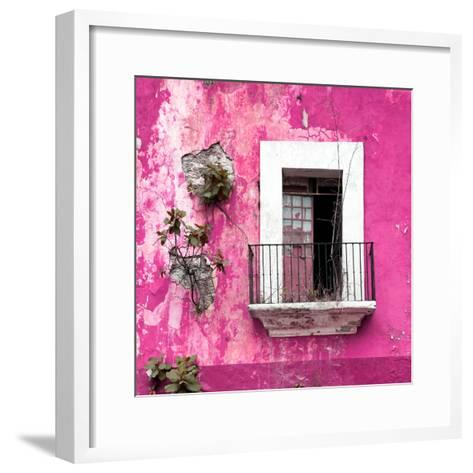 ¡Viva Mexico! Square Collection - Old Pink Facade-Philippe Hugonnard-Framed Art Print
