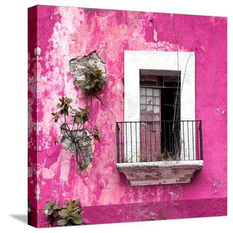 ¡Viva Mexico! Square Collection - Old Pink Facade-Philippe Hugonnard-Stretched Canvas Print