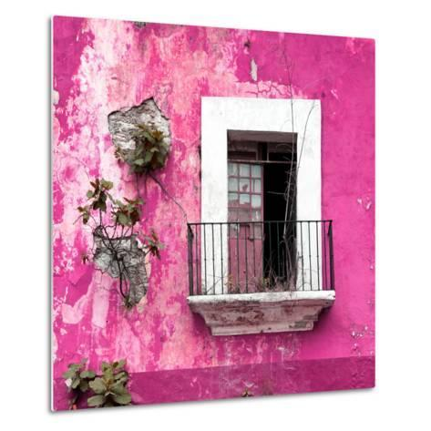 ¡Viva Mexico! Square Collection - Old Pink Facade-Philippe Hugonnard-Metal Print