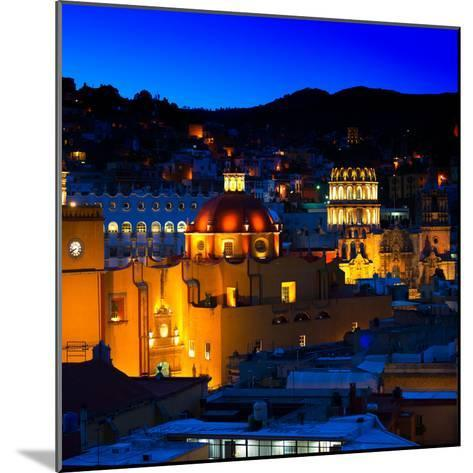 ¡Viva Mexico! Square Collection - Guanajuato by Night II-Philippe Hugonnard-Mounted Photographic Print