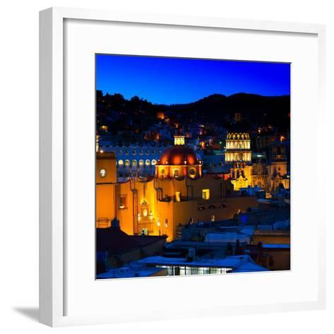 ¡Viva Mexico! Square Collection - Guanajuato by Night II-Philippe Hugonnard-Framed Art Print