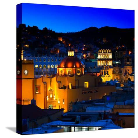 ¡Viva Mexico! Square Collection - Guanajuato by Night II-Philippe Hugonnard-Stretched Canvas Print