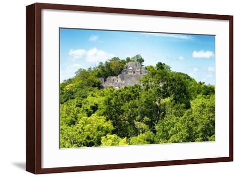 ?Viva Mexico! Collection - Ancient Maya City within the jungle of Calakmul V-Philippe Hugonnard-Framed Art Print