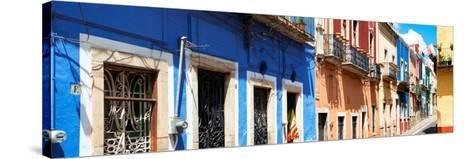 ¡Viva Mexico! Panoramic Collection - Facades of Colors in Guanajuato-Philippe Hugonnard-Stretched Canvas Print